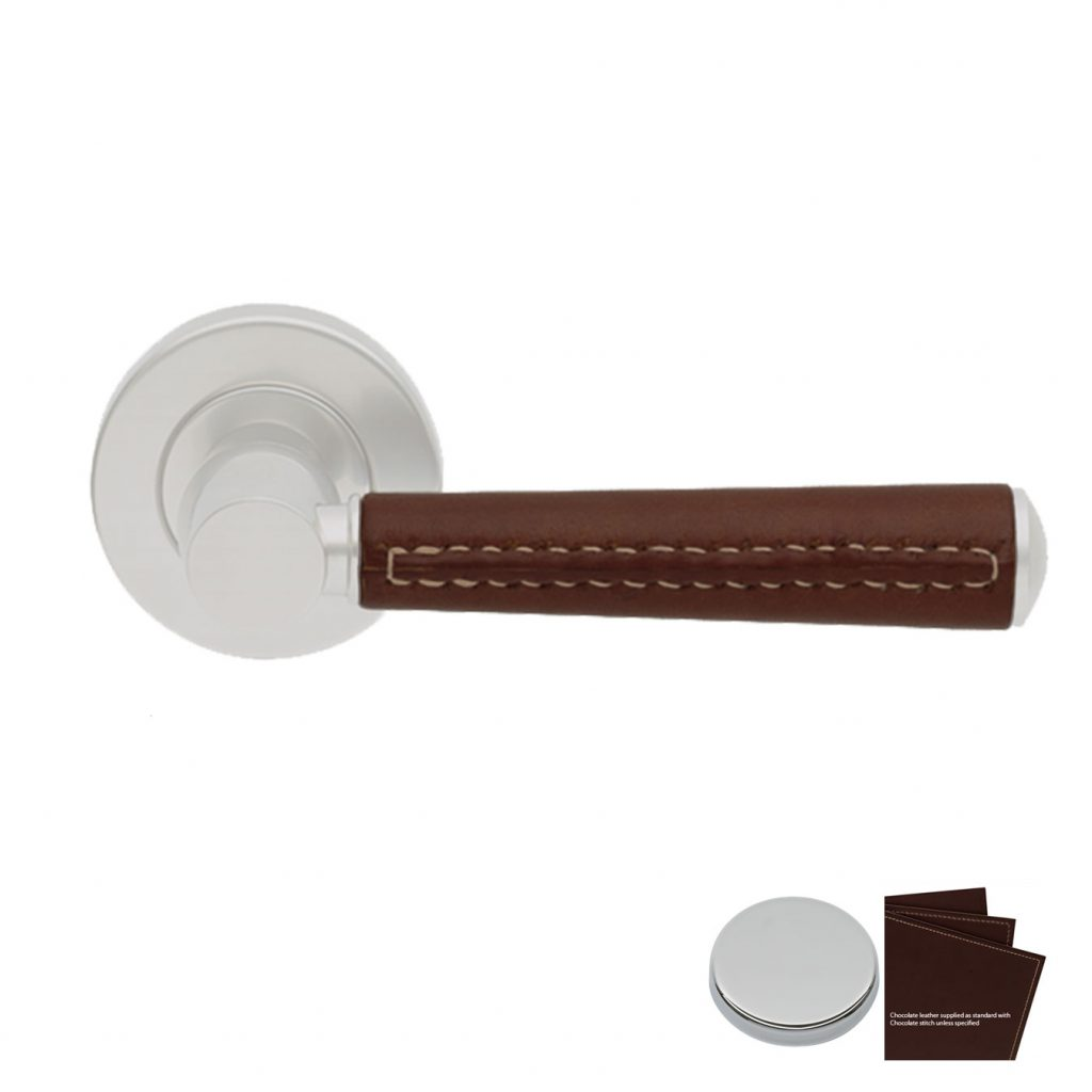 Dørvrider Tube  C1012, chocolate / krom