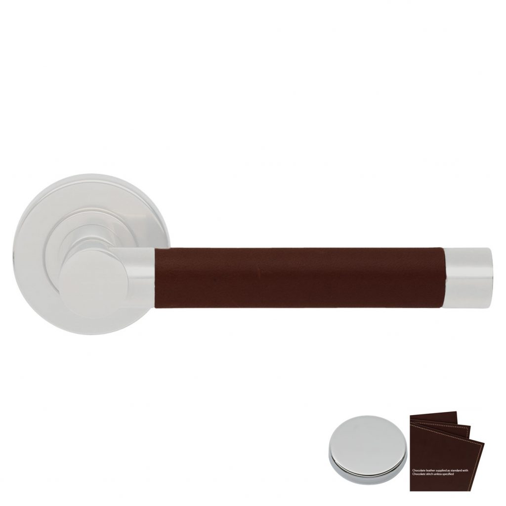 Dørvrider Barrel R1018 søm inn, chocolate/krom