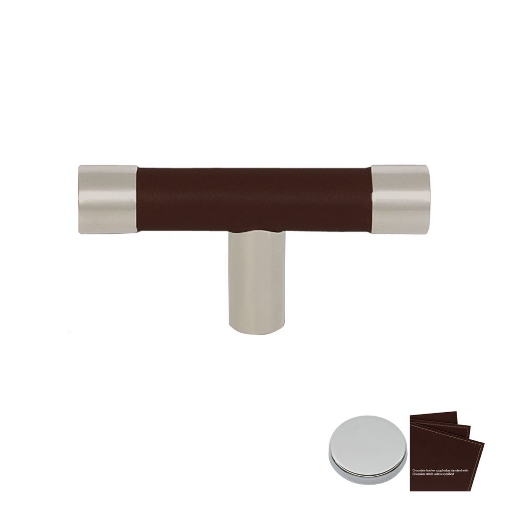 Møbelhåndtak T-Bar R1198, chocolate/krom