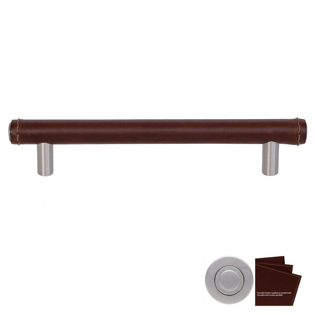 Skaphåndtak Full Covered Bar cc:160mm, chocolate/børstet stå