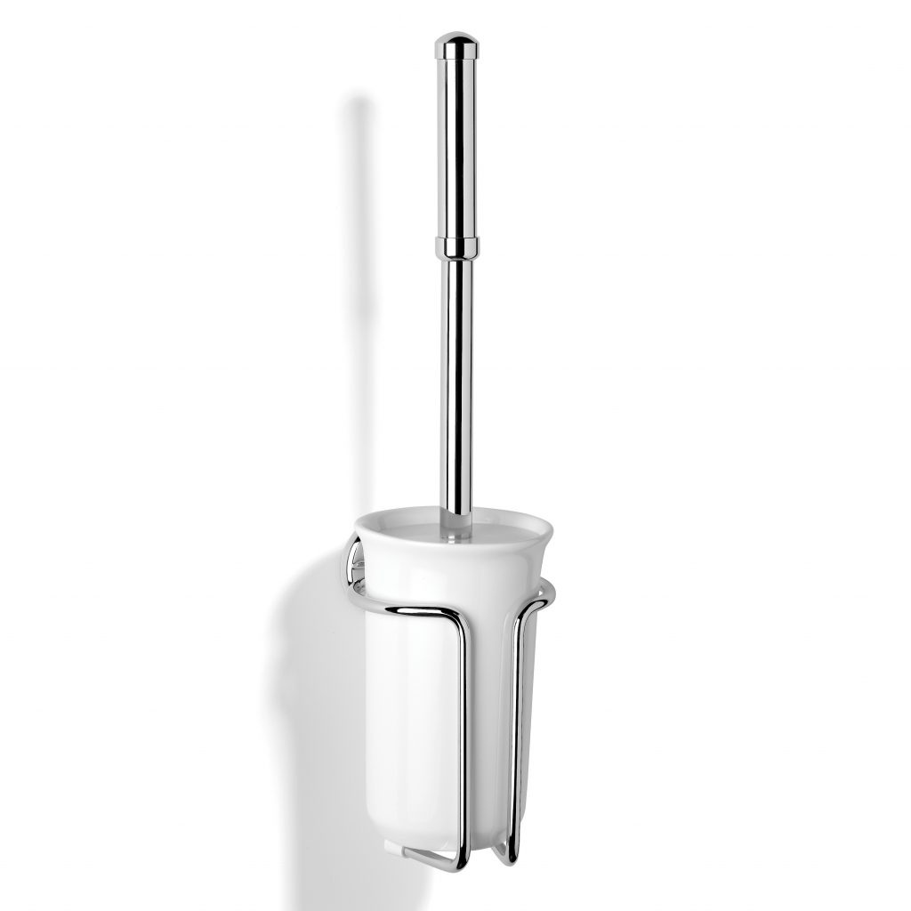 Wall Mounted Toilet Brush Set Chrome Plated - N1049-CP