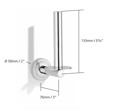 Spare Toilet Roll Holder Chrome Plated - N7041-CP
