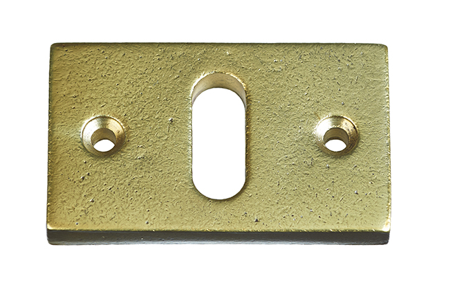 KEYPLATE  / AGED GOLD / HORIZONTAL / PC