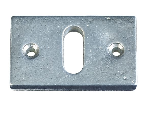 KEYPLATE  / OLD SILVER / HORIZONTAL / PC